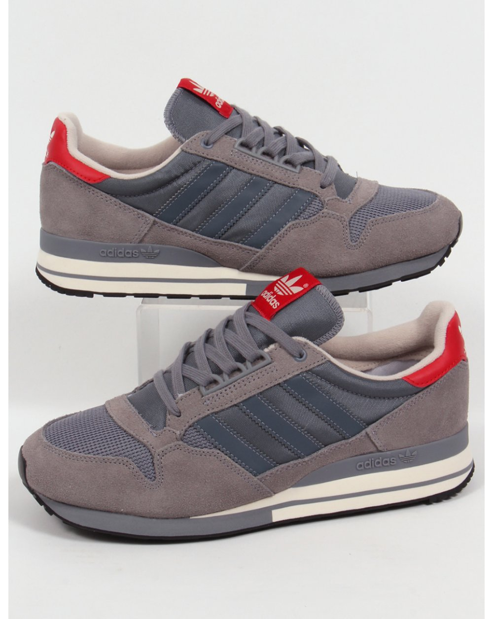 adidas zx 500 og trainers grey onix red originals shoes. Black Bedroom Furniture Sets. Home Design Ideas