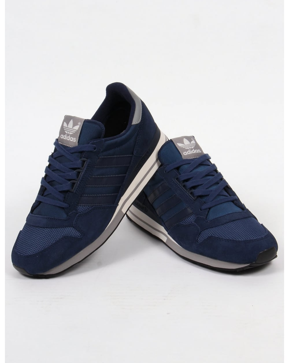 3a9d31b29 Adidas ZX 500 OG Trainers Navy White Solid Grey