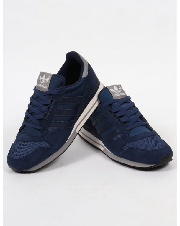 811d61560648 Adidas ZX 500 OG Trainers Navy White Solid Grey