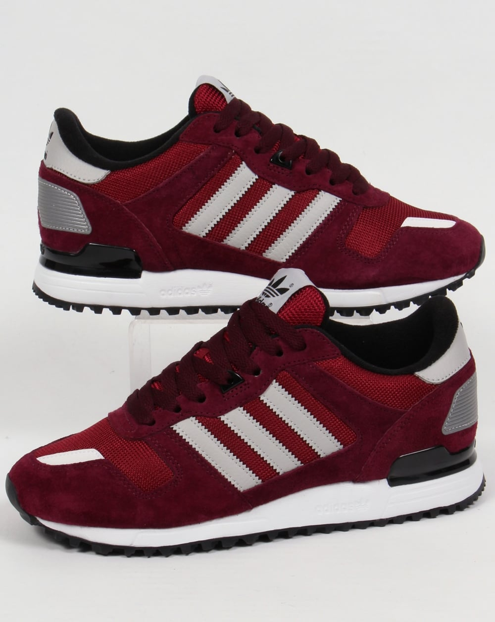 sélection premium bf99e a0e19 Adidas ZX 700 Trainers Burgundy/Grey/Black