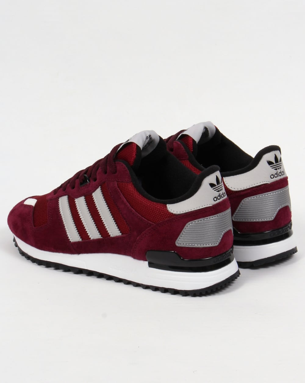 burgundy adidas trainers black