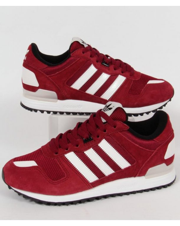 Adidas Zx 700 Trainers Burgundy/white