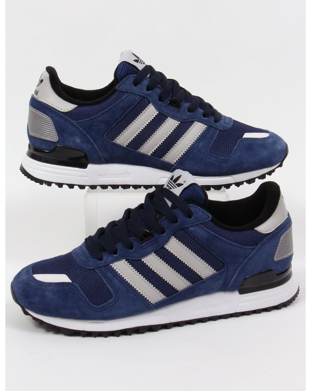 adidas zx 700 trainers navy grey black originals shoes. Black Bedroom Furniture Sets. Home Design Ideas
