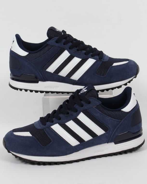 mens adidas navy & white zx 700 trainers