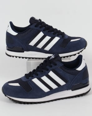 Adidas Trainers Adidas ZX 700 Trainers Navy/White