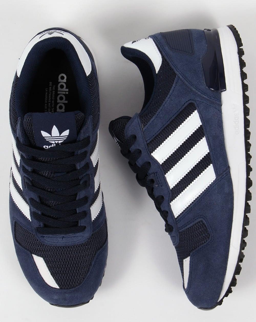 best website 07b48 c50a6 Adidas ZX 700 Trainers Navy/White