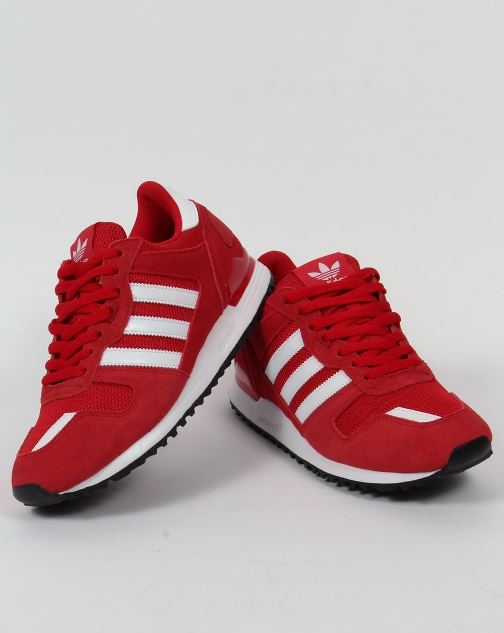 Adidas ZX700 trainers Red, White ,Retro Runners, sneakers
