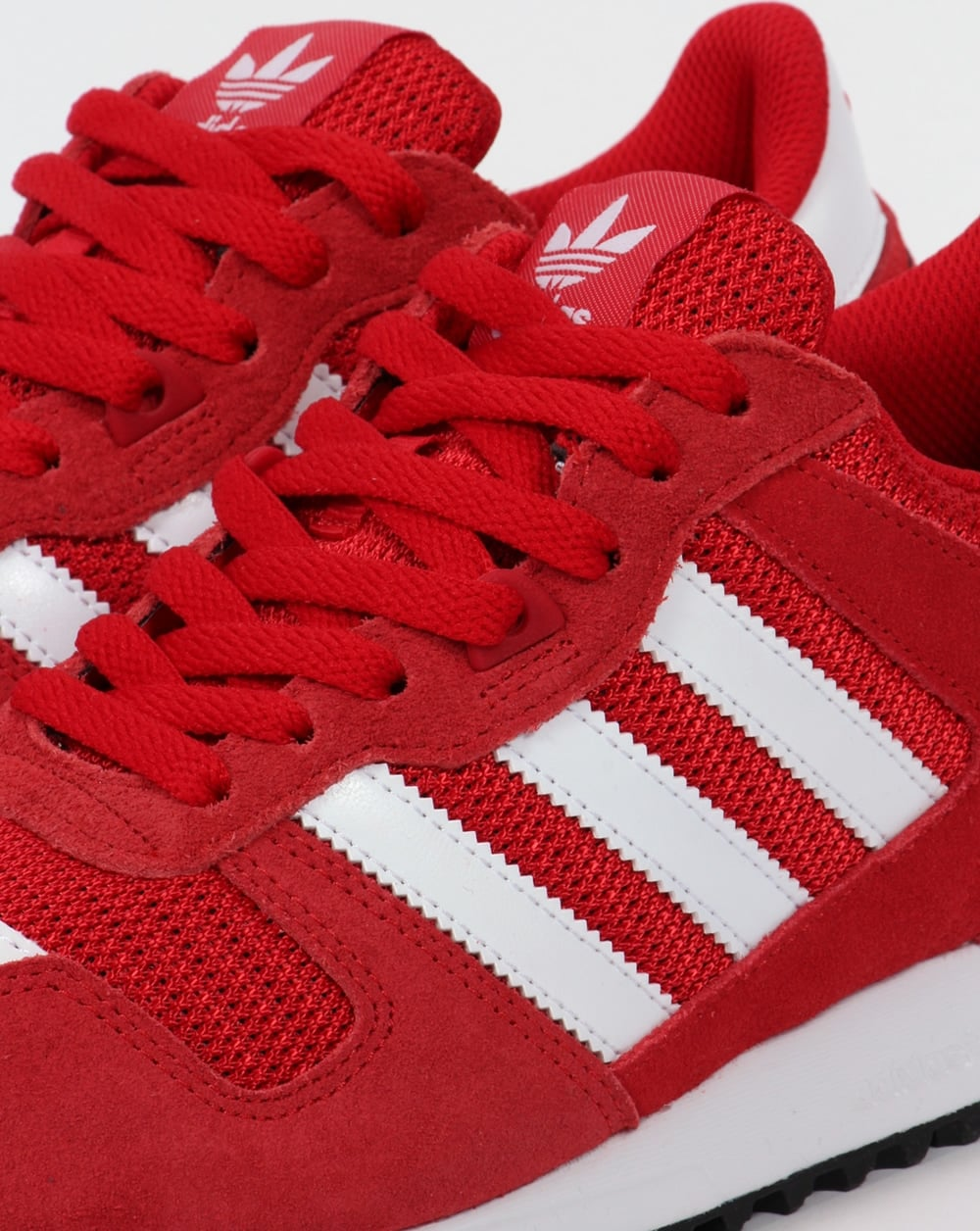 8f37459911777 Adidas ZX 700 Trainers Red White