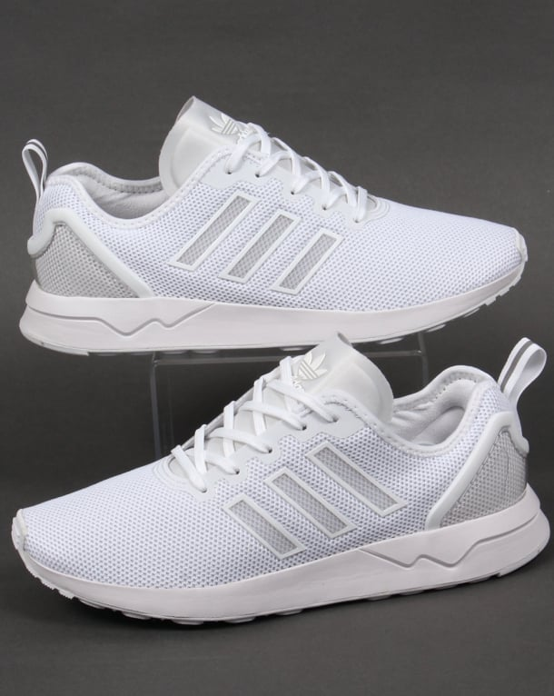 sports shoes fea3e 8965c Adidas ZX Flux ADV Trainers White/White
