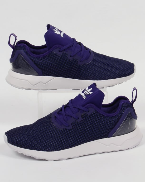Adidas ZX Flux Racer Asym Trainers Purple/Black/White