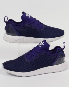 Adidas Trainers Adidas ZX Flux Racer Asym Trainers Purple/Black/White
