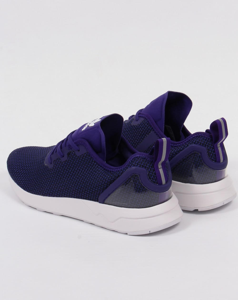 hot sale online 72866 fdbfc Adidas ZX Flux Racer Asym Trainers Purple/Black/White