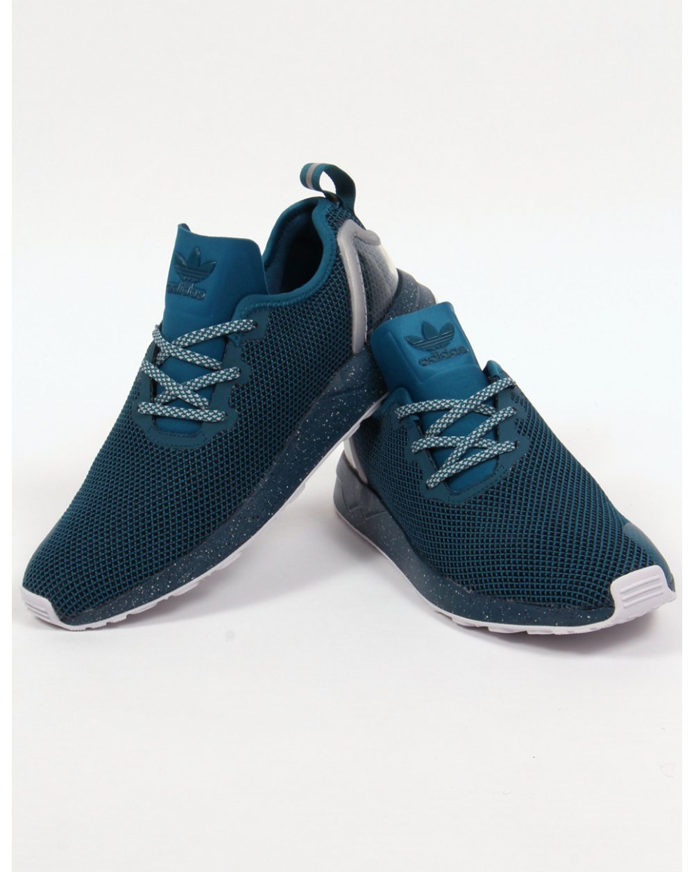 adidas zx flux racer asym trainers serpent blue runners shoes originals. Black Bedroom Furniture Sets. Home Design Ideas