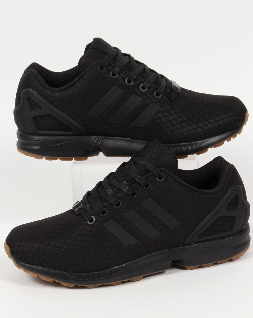 mens black adidas flux trainers