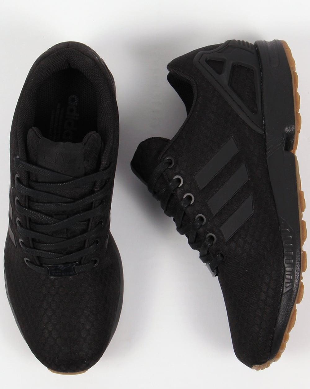 ad9a61bd91eca ... shop adidas zx flux trainers black black gum c5320 7a31c