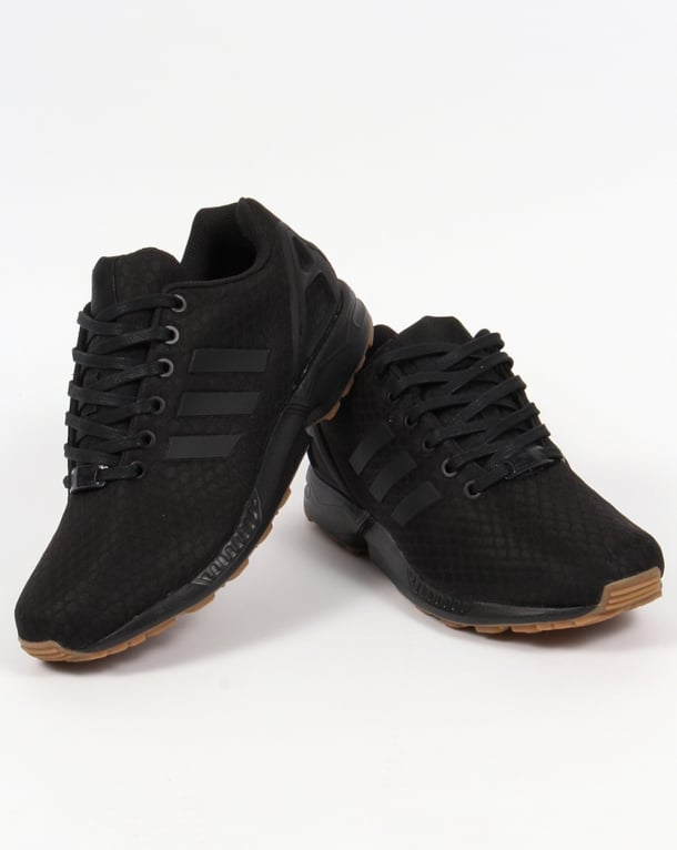 Adidas ZX Flux Trainers Black/Black/Gum