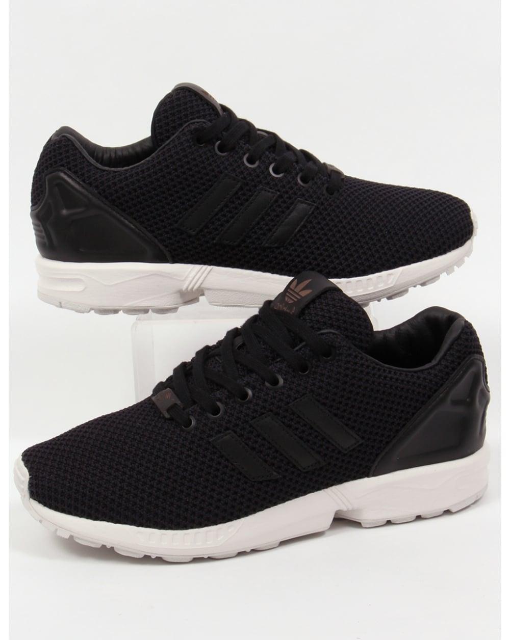 adidas zx flux trainers black black white originals shoes sneakers men. Black Bedroom Furniture Sets. Home Design Ideas