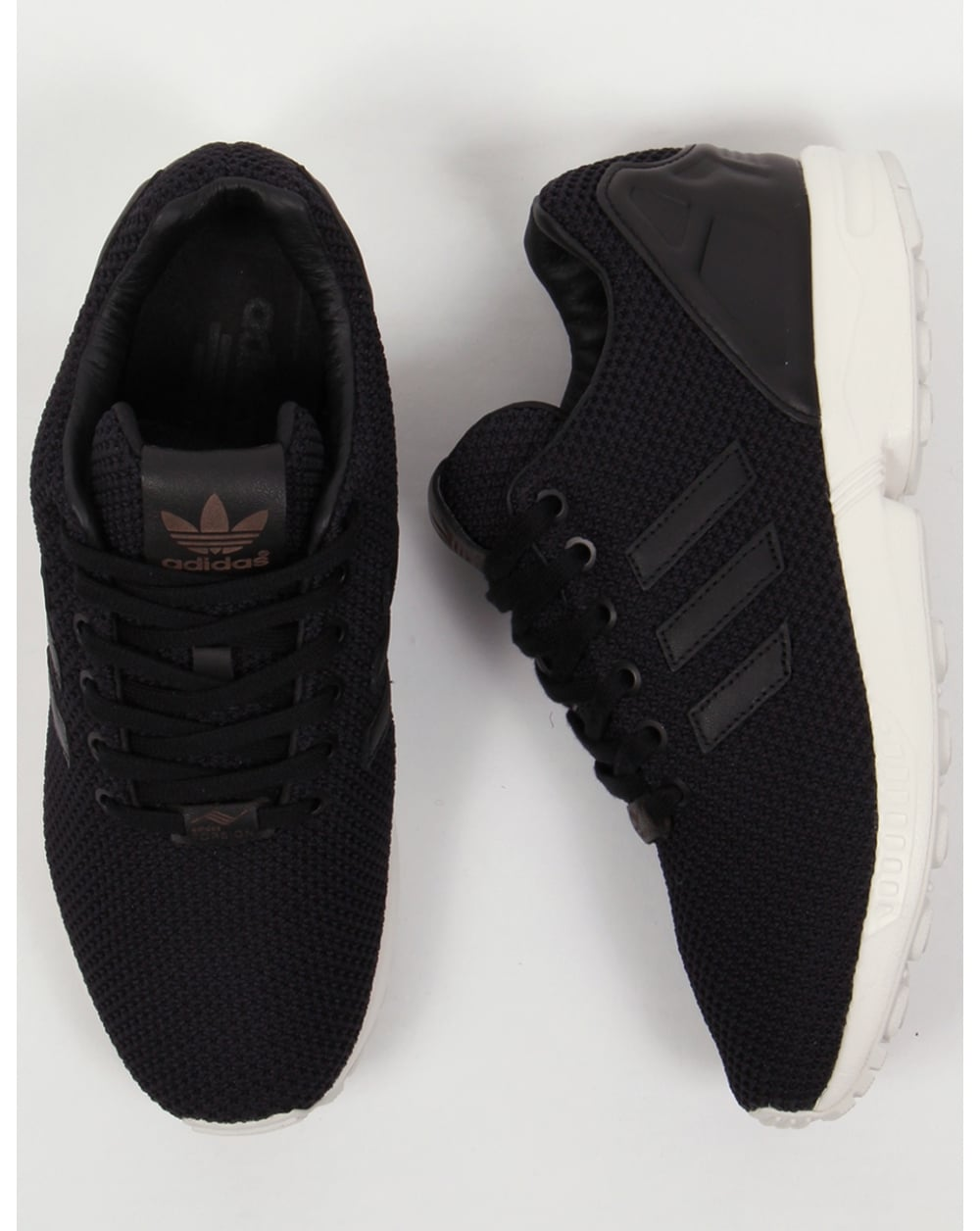 sports shoes e0312 80148 Adidas Zx Flux Trainers Black/black/white