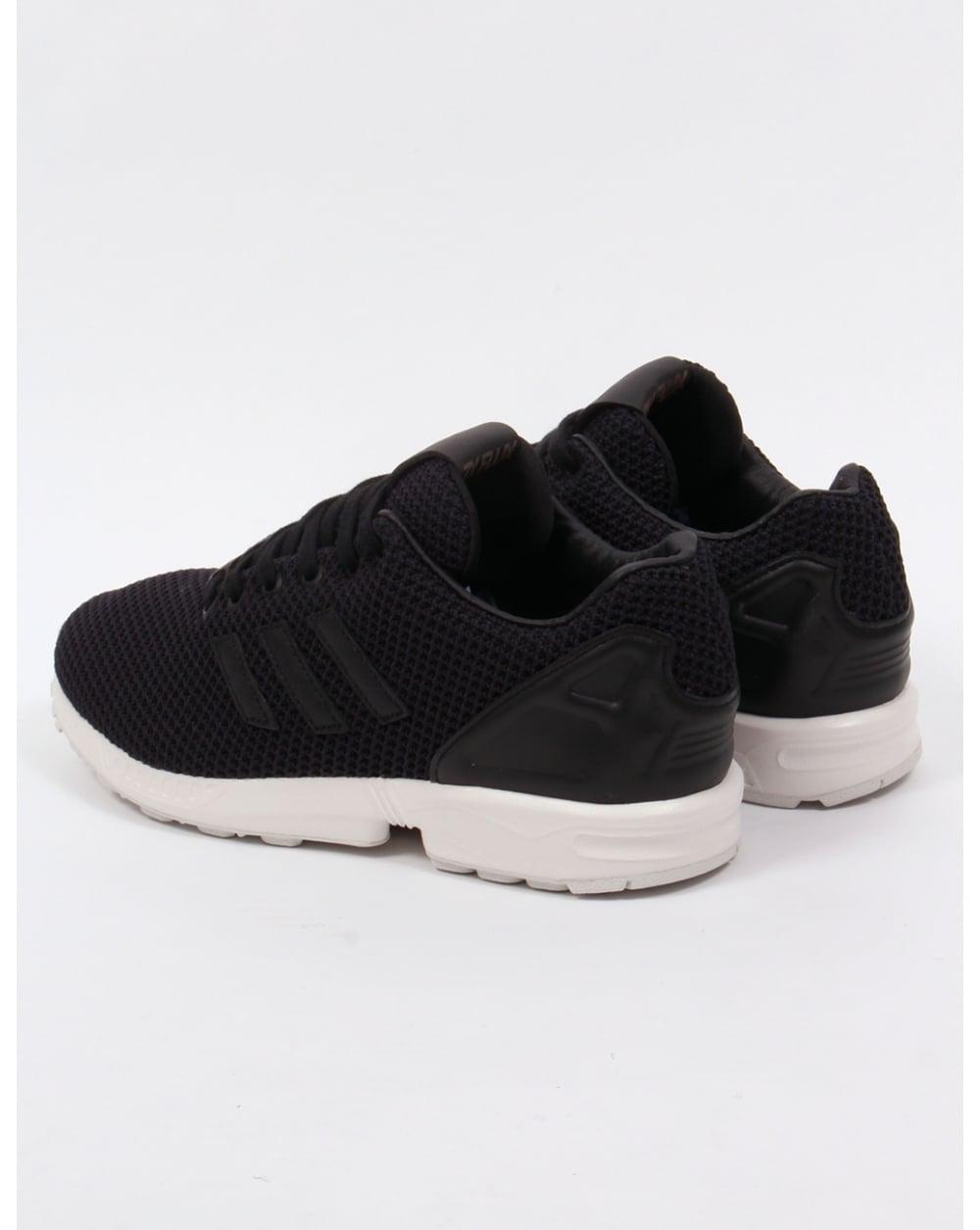 Hombres Adidas Zx Flujo Zapatos Negros Formadores oWCJDLQdbu