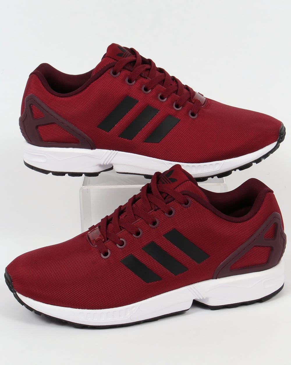 reputable site a8405 545a3 Adidas ZX Flux Trainers Burgundy/Black