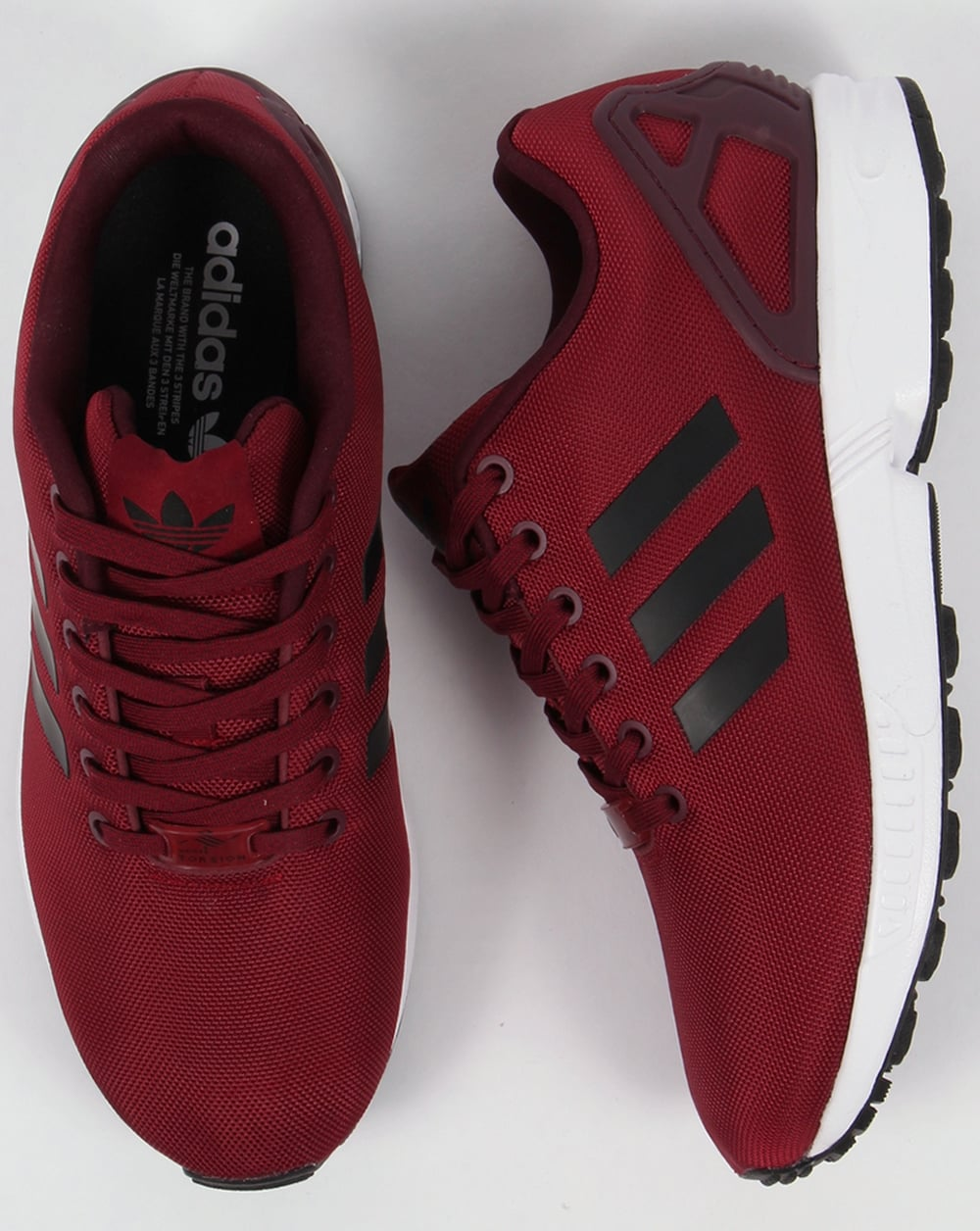Adidas ZX Flux Trainers Burgundy/Black