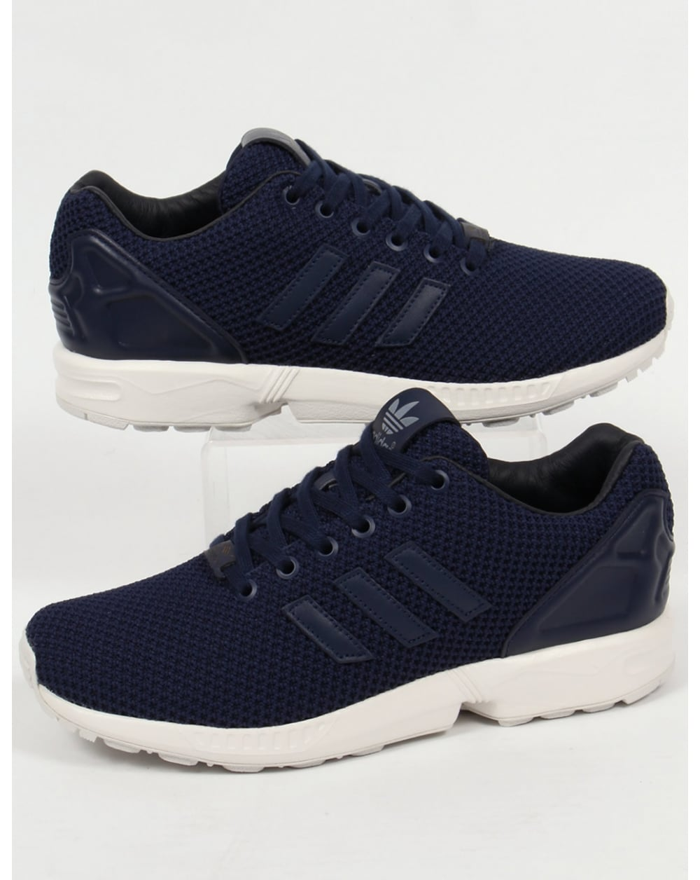 info for 9e8f8 e86ab Adidas ZX Flux Trainers Navy/Navy/White