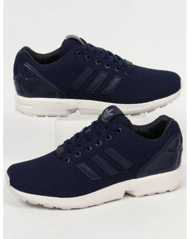 Adidas zx flusso formatori marina / marina / bianco, originali, scarpe, Uomo