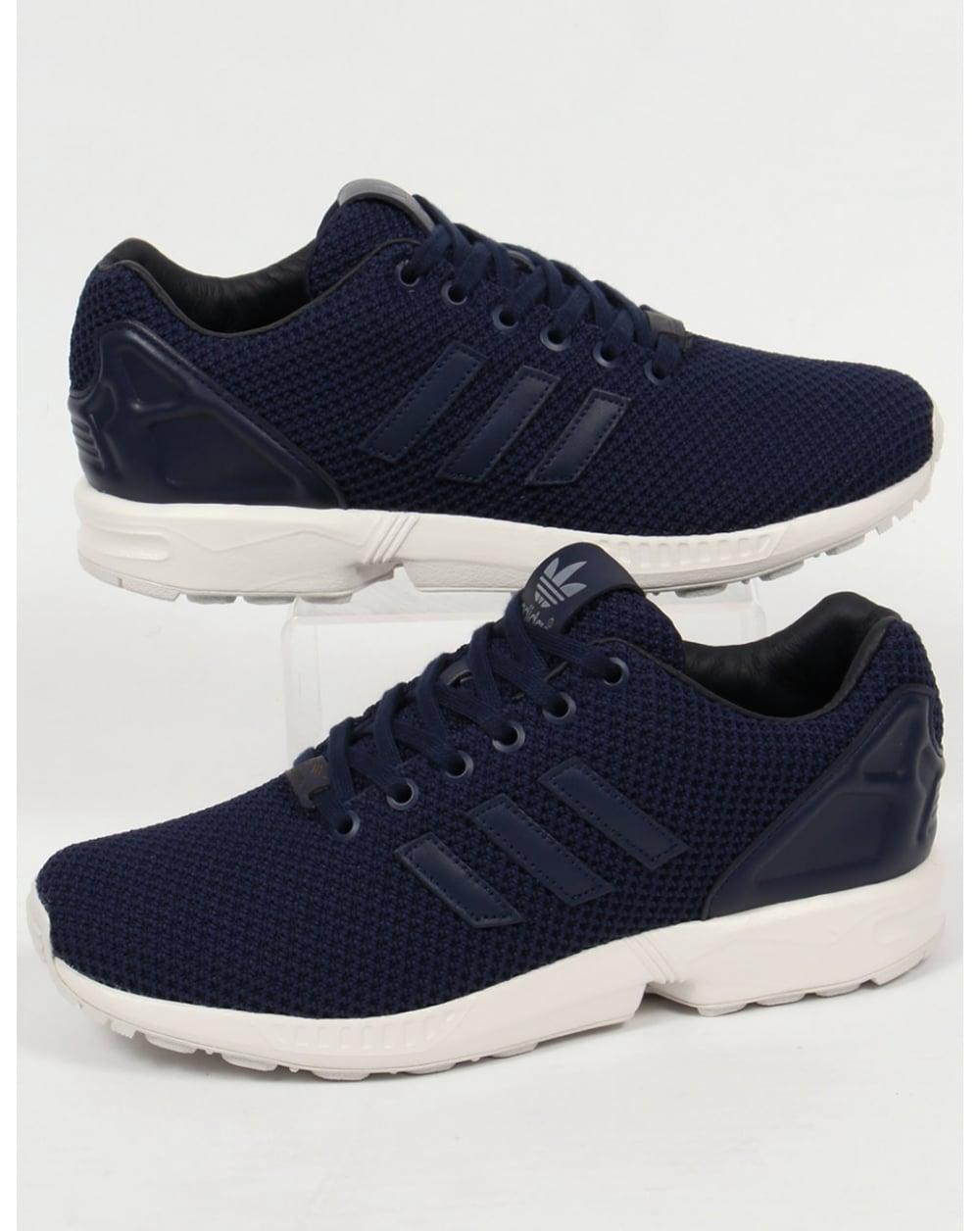 grava Interrupción Donación  Adidas ZX Flux Trainers Navy/Navy/White,originals,shoes,mens