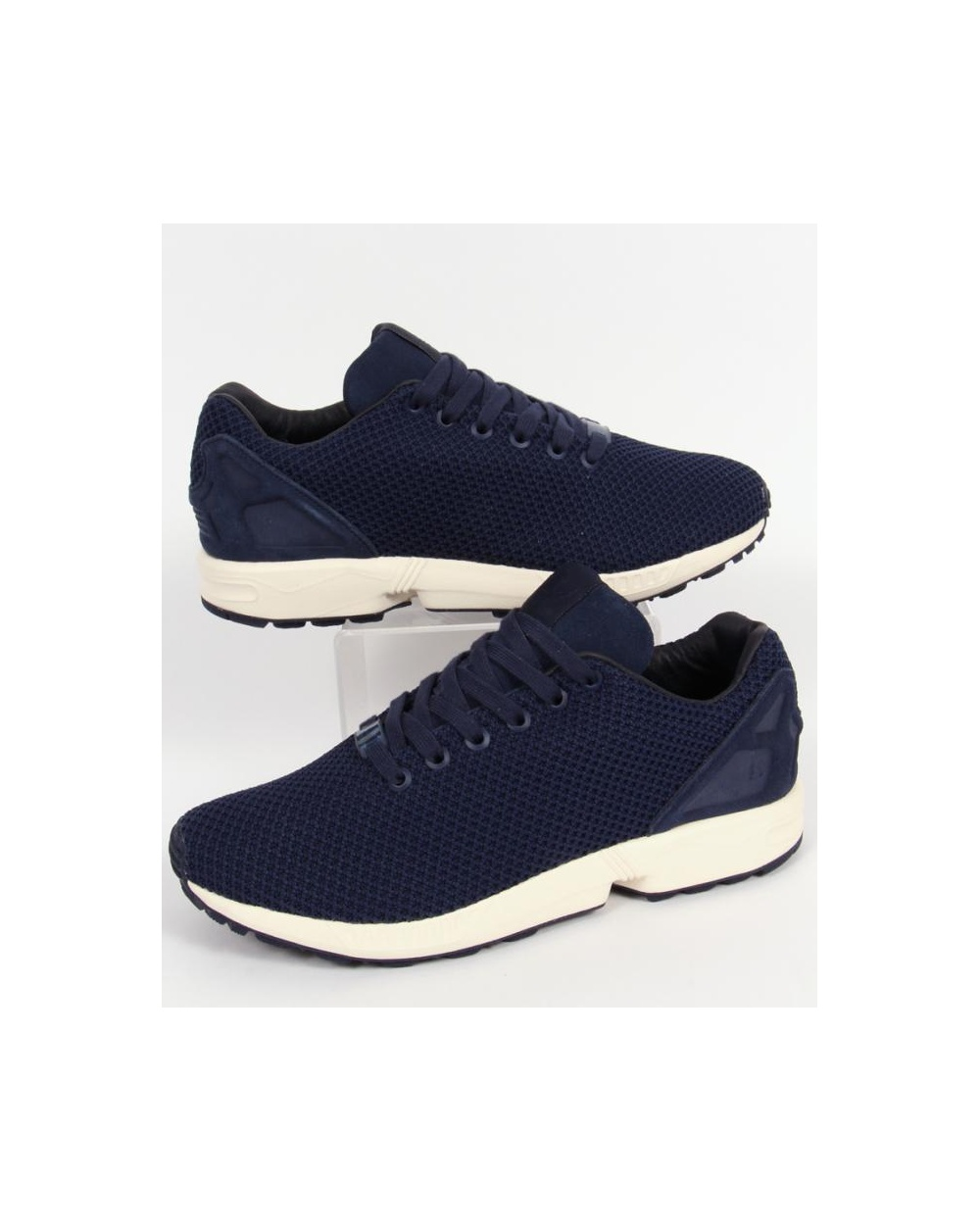 brand new 7c58a 19f04 Adidas Zx Flux Trainers Navy