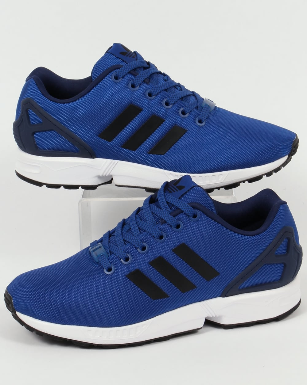 new arrival 000fd b7edf Adidas ZX Flux Trainers Royal Blue/Black