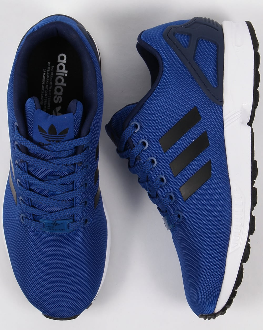 quality design fe9c8 d9748 clearance adidas zx flux blue black cb892 e9ee7