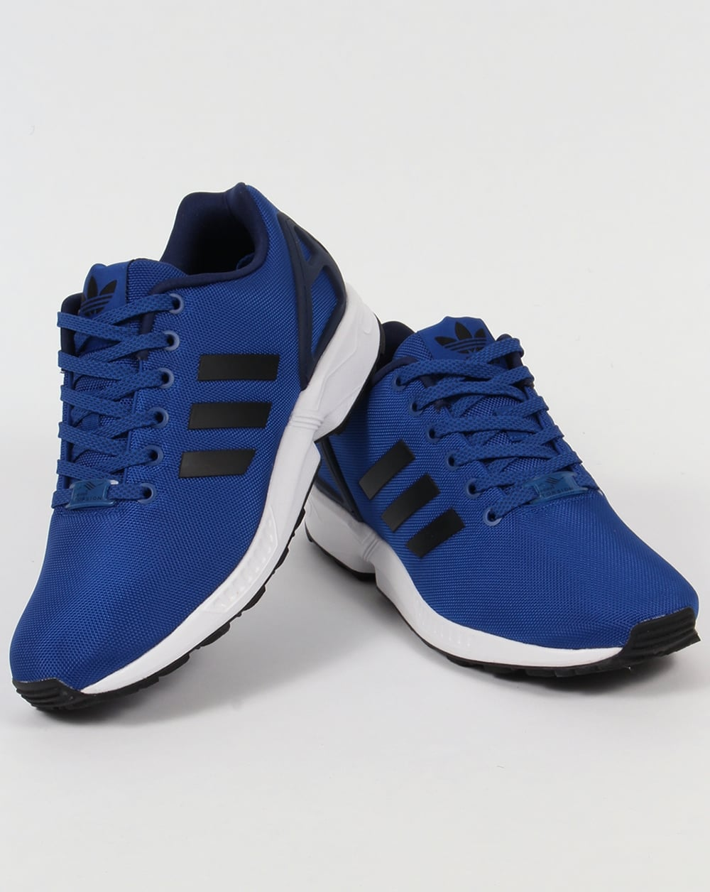 check out 3d563 26566 ... shop adidas zx flux trainers royal blue black 2012f 23eeb