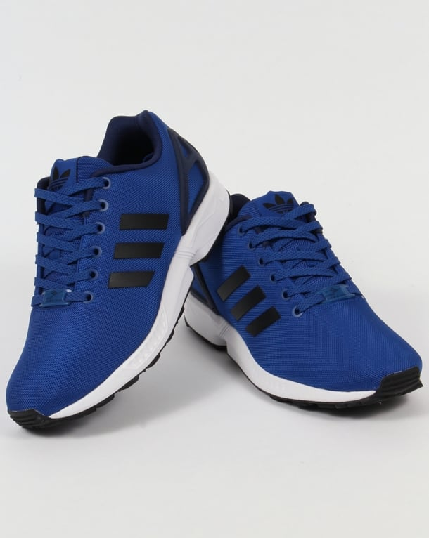 new arrival b3cab 8287b Adidas ZX Flux Trainers Royal Blue/Black
