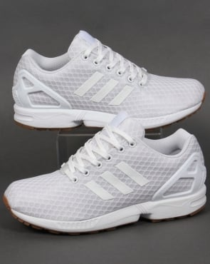 Adidas Trainers Adidas ZX Flux Trainers White/White/Gum