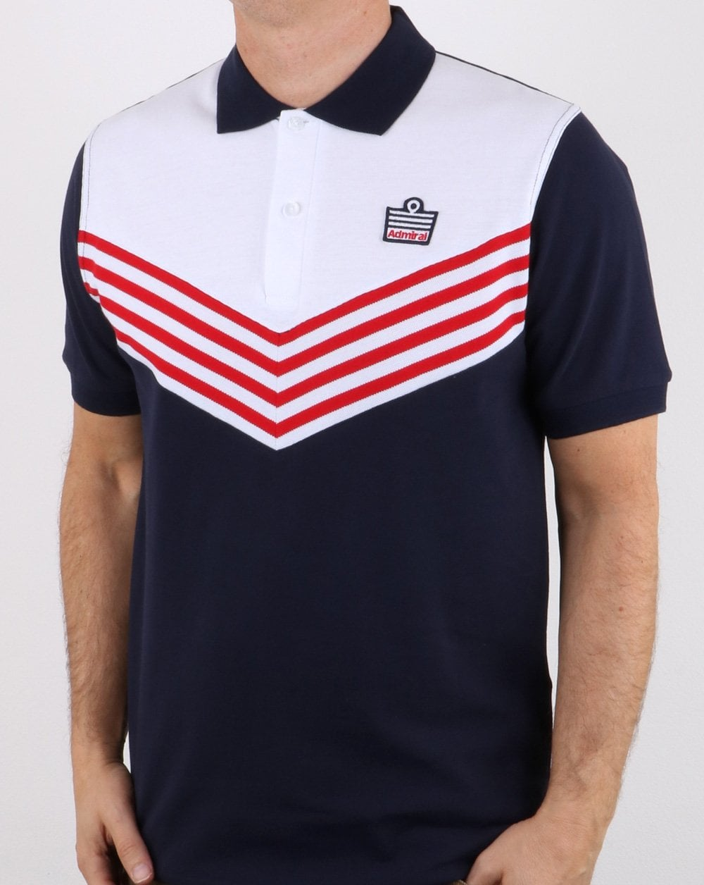 1285af0d9 Admiral 1976 Polo Shirt Navy/Red, sportswear, mens, retro