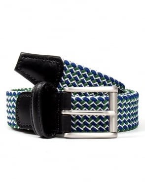 Andersons Woven Belt Green/Blue