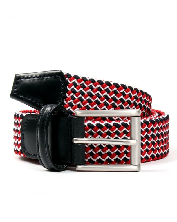 Andersons Belts Andersons Woven Belt Red/Navy
