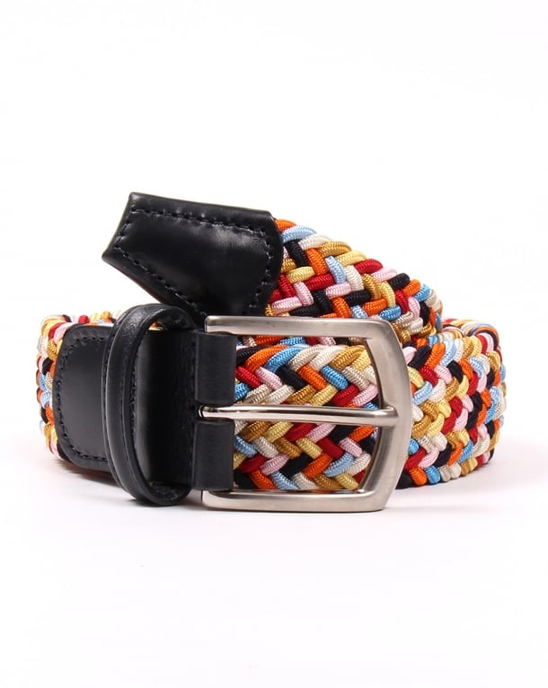 Andersons Woven Leather Trim Belt Multi