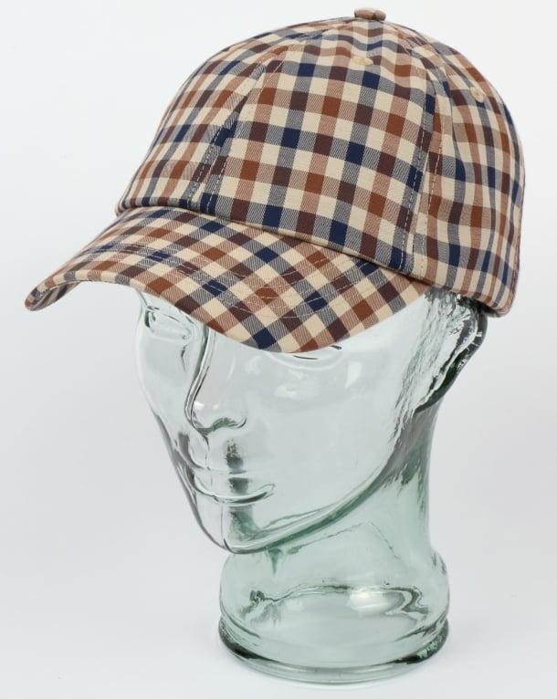 a5118c08924 Aquascutum abbott club check cap vicuna baseball hat chequered canvas jpg  610x766 Aquascutum abott