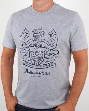 Aquascutum Aldis Crest T Shirt Grey