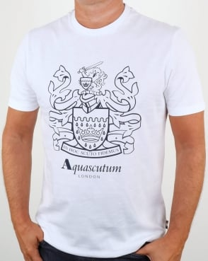 Aquascutum Aldis Crest T Shirt White
