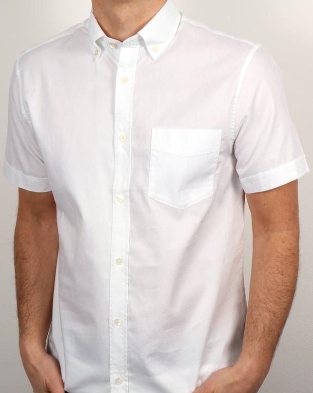 Aquascutum Ashford Oxford Ss Shirt White