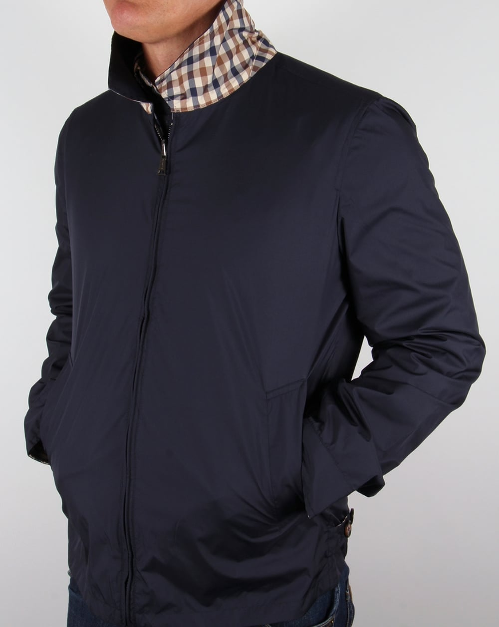 Aquascutum Brackenberry Reversible Blouson Jacket Navy