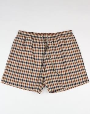 Aquascutum Carlton Check Swim Shorts