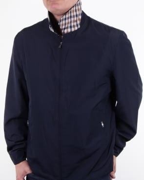 Aquascutum Cliff Nylon Harrington Navy