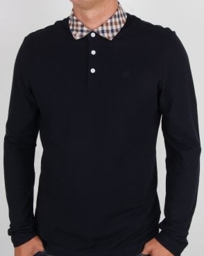 Aquascutum Coniston Cc Collar Ls Polo Navy