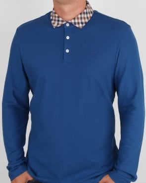 Aquascutum Coniston Cc Collar Ls Polo Slate Blue