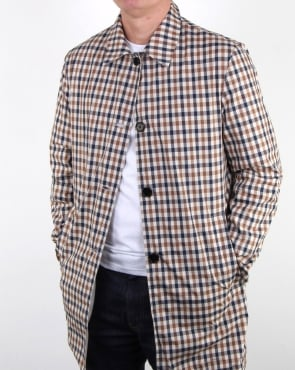 Aquascutum Cove Reversible Raincoat light camel