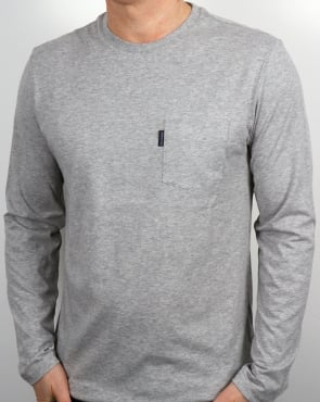 Aquascutum Cullen Ls T Shirt Grey