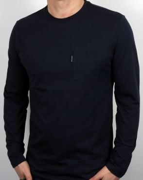 Aquascutum Cullen Ls T Shirt Navy